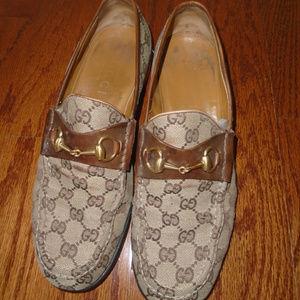 Gucci mens vintage loafers shoes horsebit